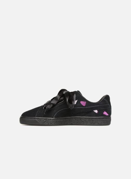 Sneaker Puma Suede Heart Flowery schwarz ansicht von vorne