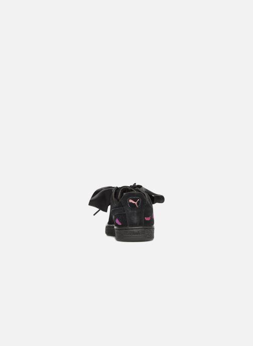 Sneaker Puma Suede Heart Flowery schwarz ansicht von rechts