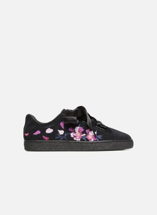 Sneaker Puma Suede Heart Flowery schwarz ansicht von hinten