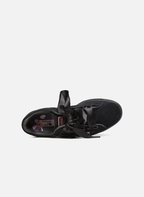 Sneaker Puma Suede Heart Flowery schwarz ansicht von links