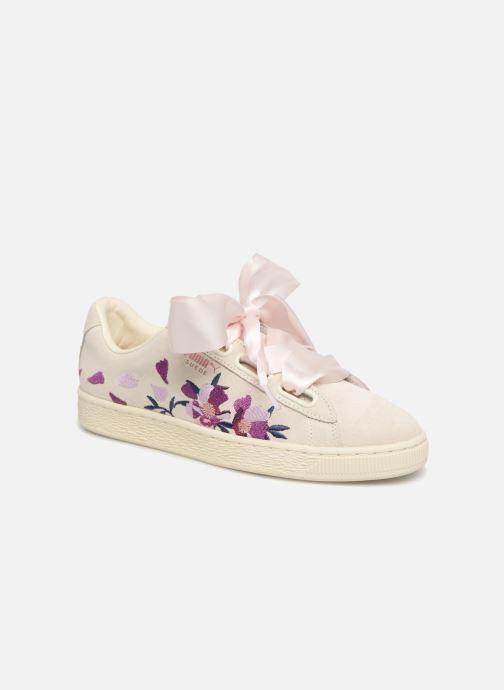 Puma Suede Heart Flowery (White) - Trainers chez Sarenza (337383) 62c1fd12c