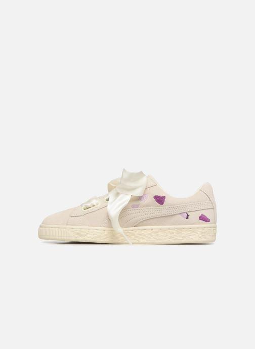 Baskets Puma Suede Heart Flowery Blanc vue face