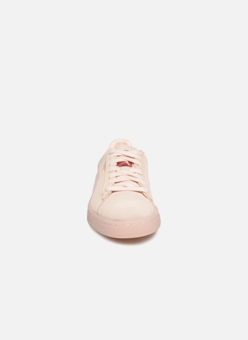 Trainers Puma Suede Classic Satin Pink model view