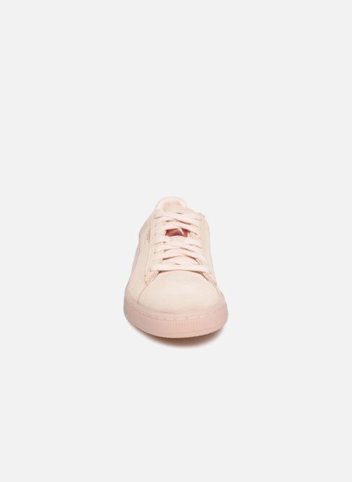 Baskets Puma Suede Classic Satin Rose vue portées chaussures
