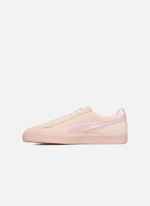 Baskets Puma Suede Classic Satin Rose vue face