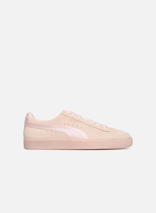 Trainers Puma Suede Classic Satin Pink back view