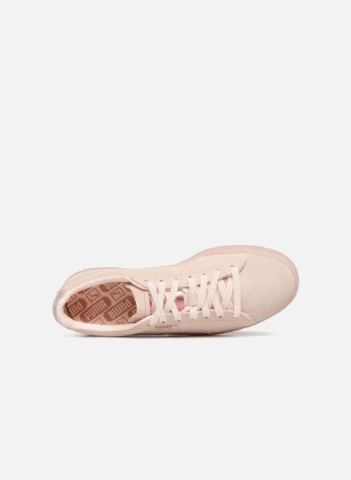 Trainers Puma Suede Classic Satin Pink view from the left