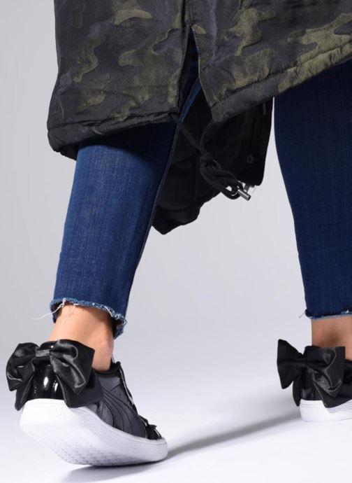 Sneakers Puma Basket Bow Patent Zwart onder