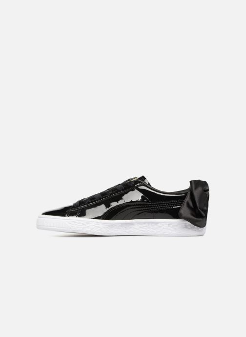 Sneakers Puma Basket Bow Patent Nero immagine frontale