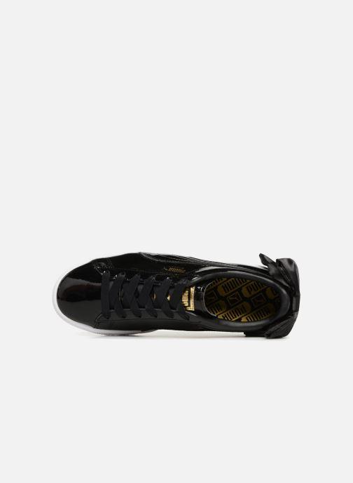Sneakers Puma Basket Bow Patent Nero immagine sinistra