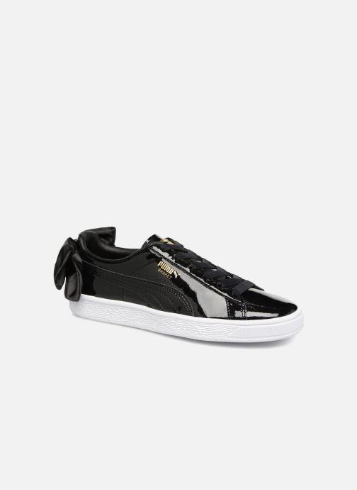 Sneakers Puma Basket Bow Patent Zwart detail