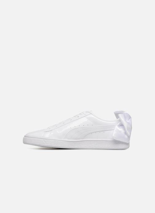 Sneaker Puma Basket Bow Patent weiß ansicht von vorne