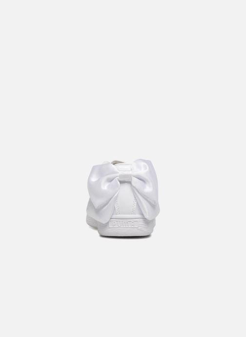 Sneakers Puma Basket Bow Patent Bianco immagine destra