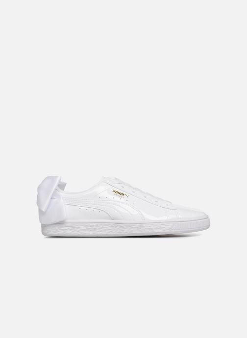 Sneaker Puma Basket Bow Patent weiß ansicht von hinten