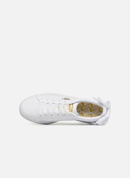 Sneaker Puma Basket Bow Patent weiß ansicht von links