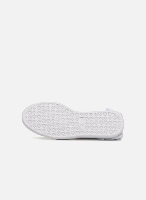 Sneaker Puma Basket Bow Patent weiß ansicht von oben