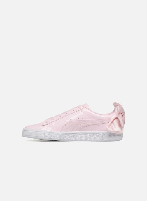 Baskets Puma Basket Bow Patent Rose vue face
