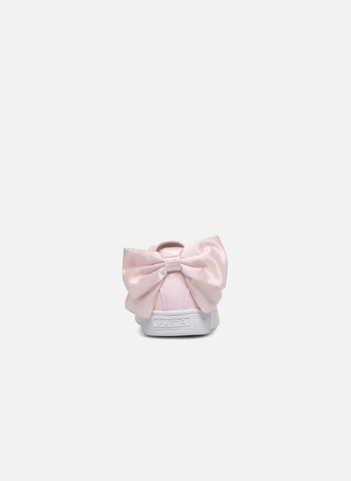 Puma Basket Bow Patent Trainers in Pink at Sarenza.eu (337389)