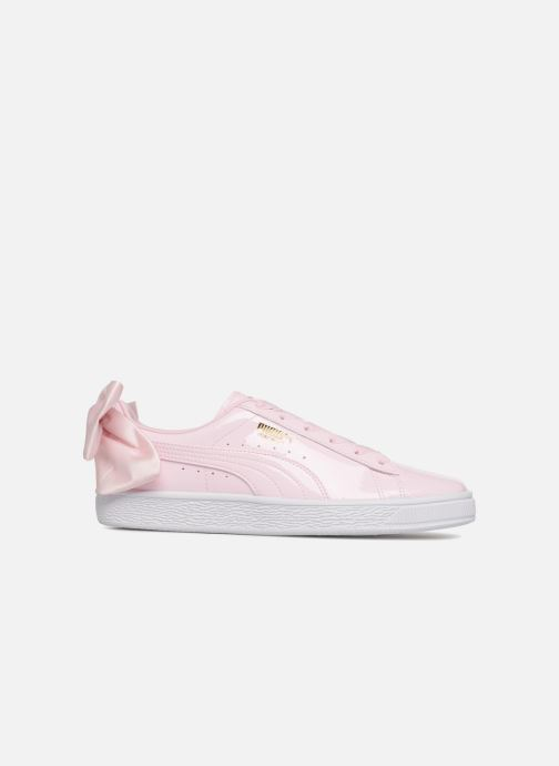 Puma Basket Bow Patent (Rose) Baskets chez Sarenza (337389)
