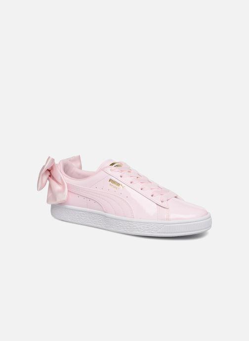 sports shoes 2cbd0 22236 Baskets Puma Basket Bow Patent Rose vue détail paire
