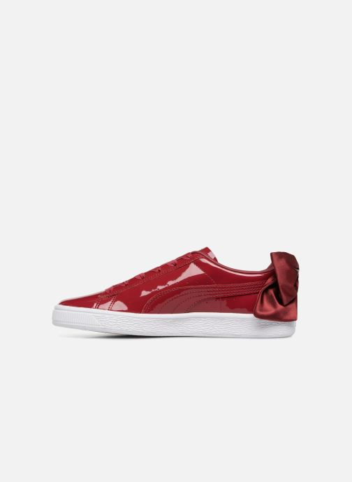 Baskets Puma Basket Bow Patent Rouge vue face