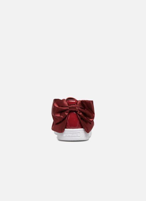 Sneakers Puma Basket Bow Patent Rosso immagine destra