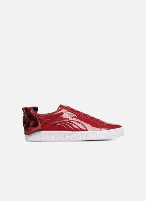 Sneaker Puma Basket Bow Patent rot ansicht von hinten
