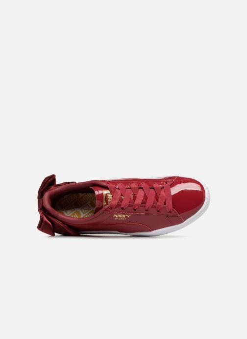 Sneaker Puma Basket Bow Patent rot ansicht von links