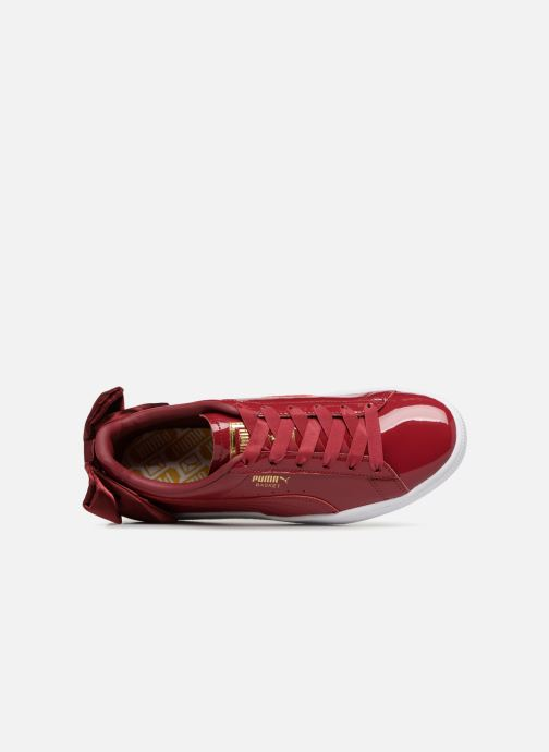 Sneakers Puma Basket Bow Patent Rosso immagine sinistra