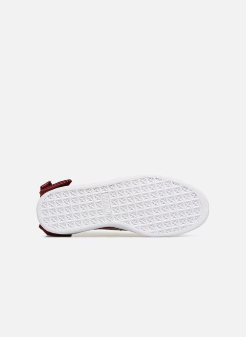 Sneaker Puma Basket Bow Patent rot ansicht von oben