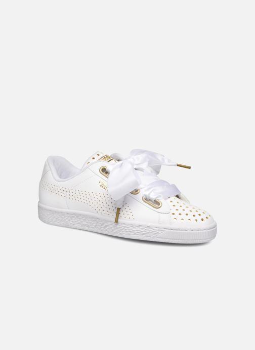 Sneakers Puma Suede Heart Ath Lux Bianco immagine 3/4