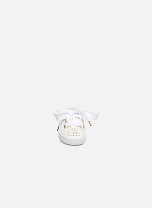 Sneaker Puma Suede Heart Ath Lux weiß schuhe getragen
