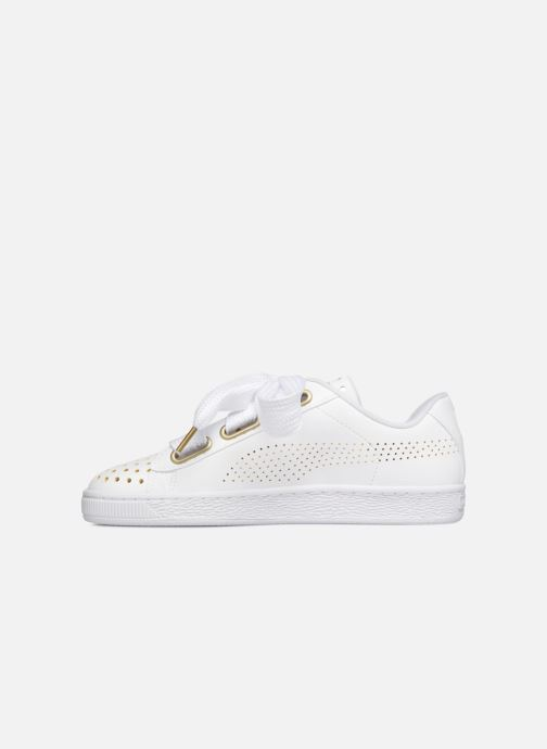 Sneakers Puma Suede Heart Ath Lux Bianco immagine frontale