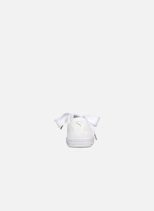 Sneaker Puma Suede Heart Ath Lux weiß ansicht von rechts