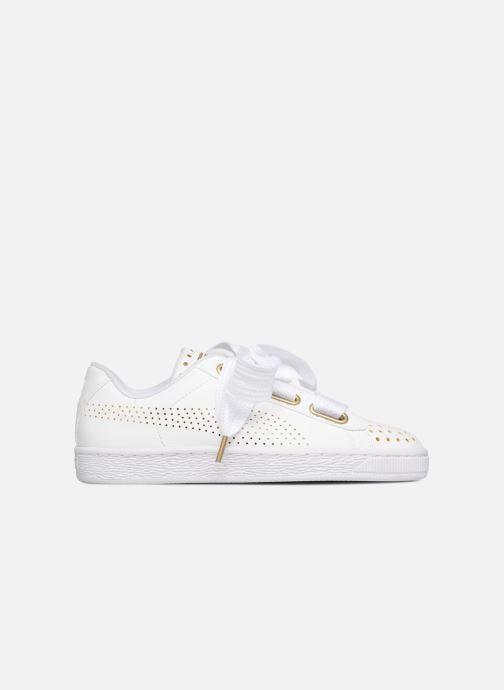 Sneaker Puma Suede Heart Ath Lux weiß ansicht von hinten