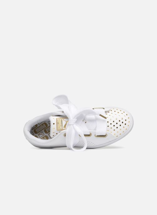 Sneakers Puma Suede Heart Ath Lux Bianco immagine sinistra