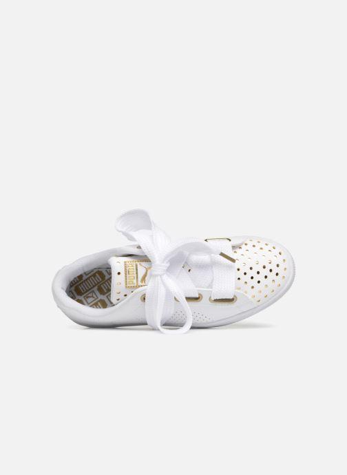 Sneaker Puma Suede Heart Ath Lux weiß ansicht von links