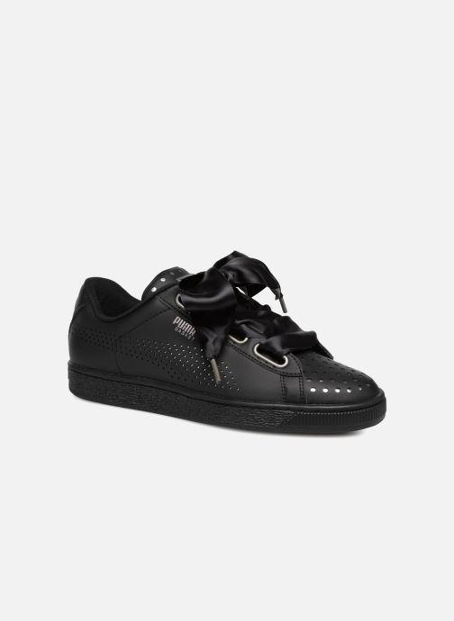 Sneakers Puma Suede Heart Ath Lux Nero immagine 3/4