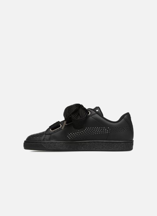 Sneakers Puma Suede Heart Ath Lux Nero immagine frontale