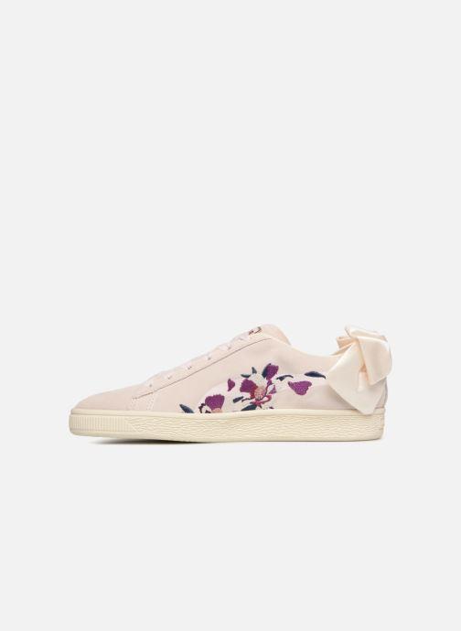 Baskets Puma Suede Bow Flowery Blanc vue face