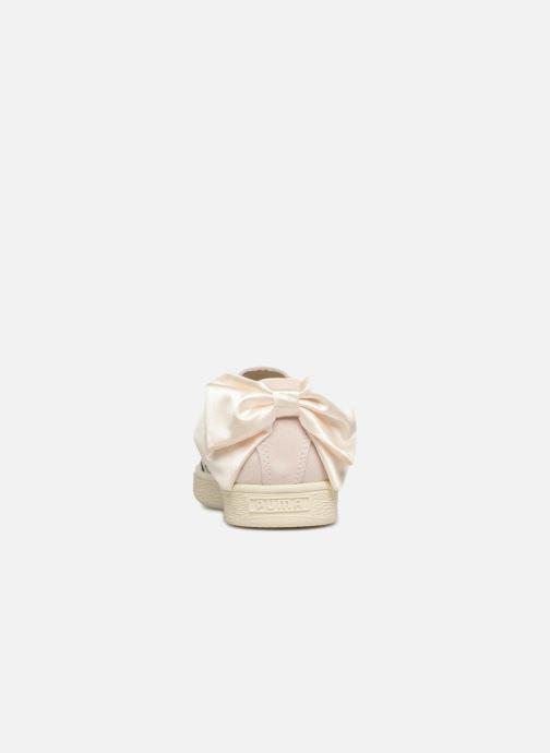 Baskets Puma Suede Bow Flowery Blanc vue droite