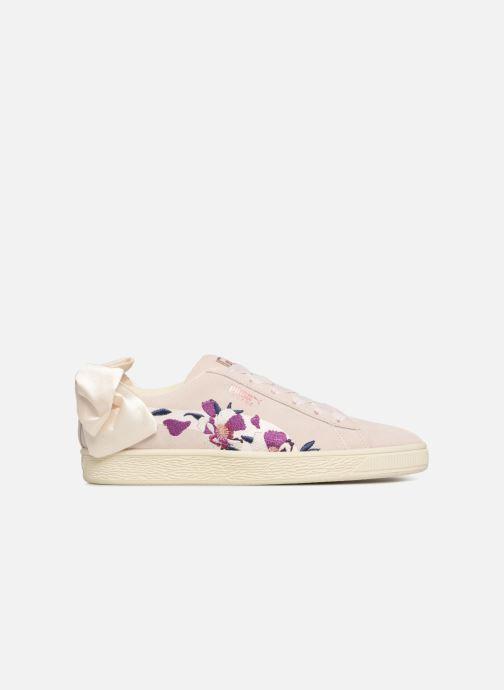 Baskets Puma Suede Bow Flowery Blanc vue derrière