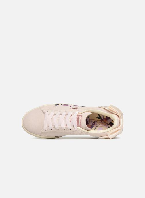 Baskets Puma Suede Bow Flowery Blanc vue gauche