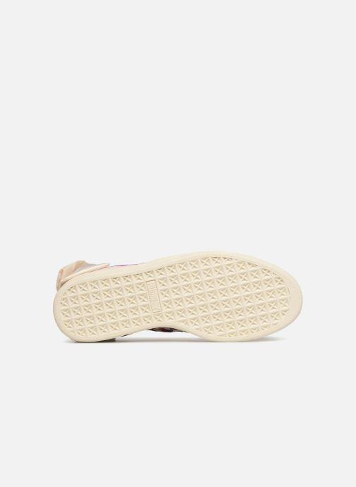 Sneaker Puma Suede Bow Flowery weiß ansicht von oben
