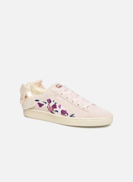 Baskets Puma Suede Bow Flowery Blanc vue détail/paire