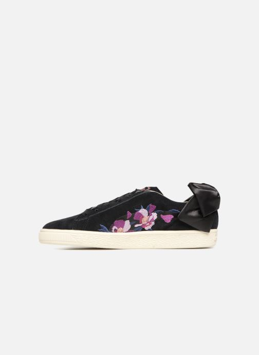 Sneakers Puma Suede Bow Flowery Nero immagine frontale