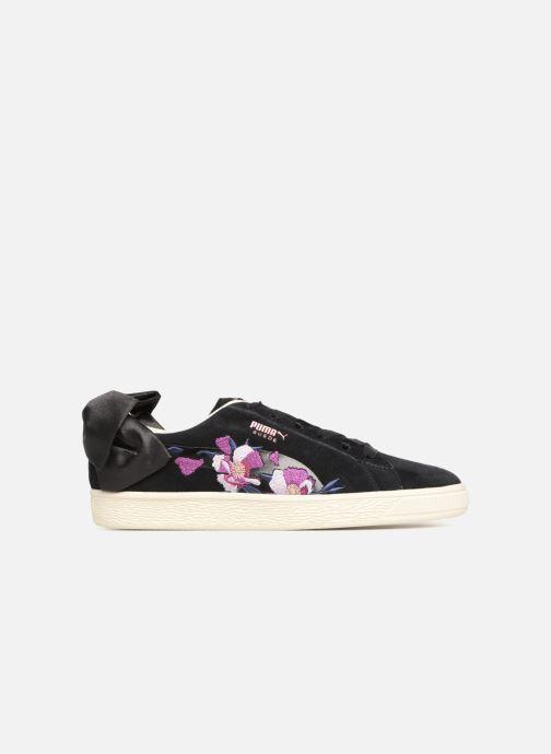 Baskets Puma Suede Bow Flowery Noir vue derrière