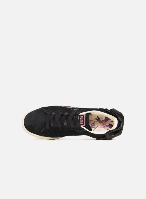 Baskets Puma Suede Bow Flowery Noir vue gauche
