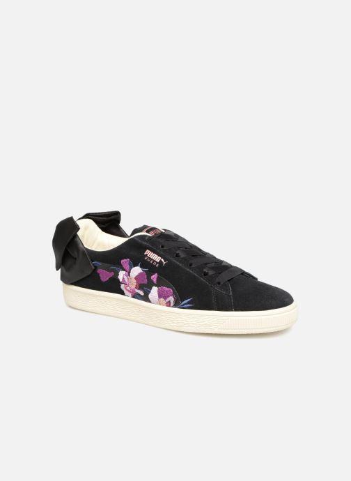 Baskets Puma Suede Bow Flowery Noir vue détail/paire
