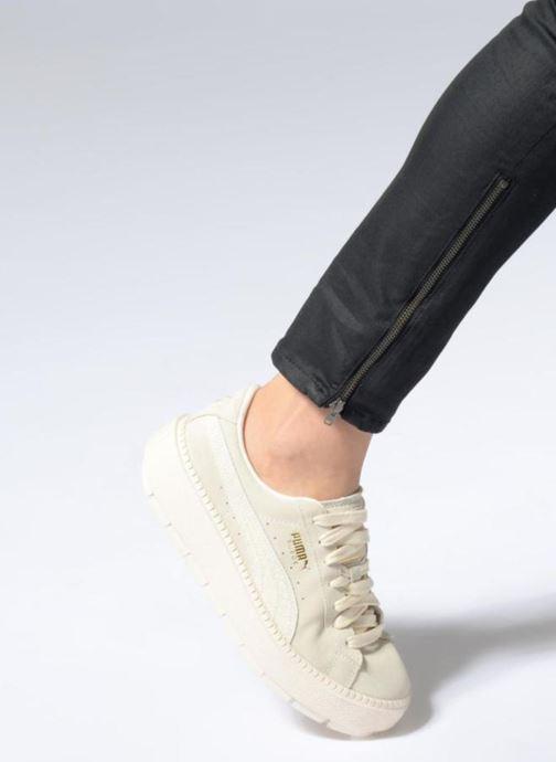 Sneaker Puma Platform Trace Animal beige ansicht von unten / tasche getragen